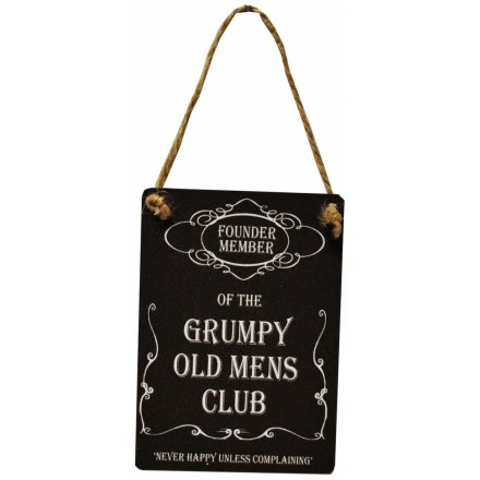 Grumpy Old Mens Club Mini Dangler Metal Sign