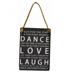 Inspirational vintage sign from our new and exclusive mini dangler range