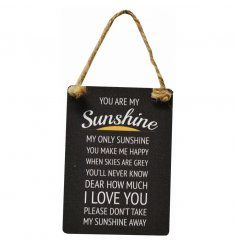Traditional You are my sunshine song on one of our new vintage metal danglers