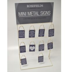 Hang up your mini metal signs with this basic standing metal frame