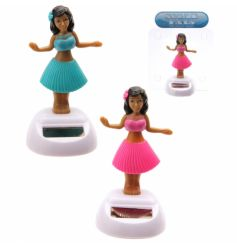 2 Assorted solar Hula girls from the popular solar pal range