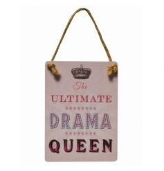 A mini metal sign set in a pretty pink tone, perfectly decorated with a scripted text decal