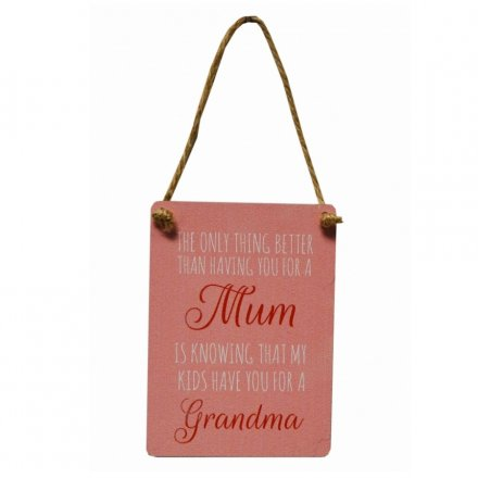 Mini Metal Sign - Mum / Grandma