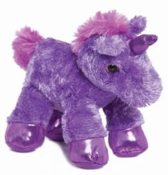 Soft and cuddly mini purple unicorn from the Flopsie range by Aurora World
