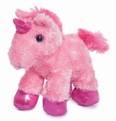 Soft and cuddly mini pink unicorn from the Flopsie range by Aurora World