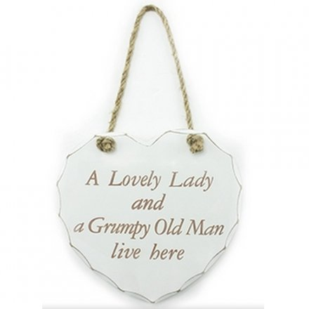 Lovely Lady Grumpy Man Plaque