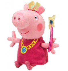 A beautifully made and soft to touch official TY Peppa Pig Princess Beanie.