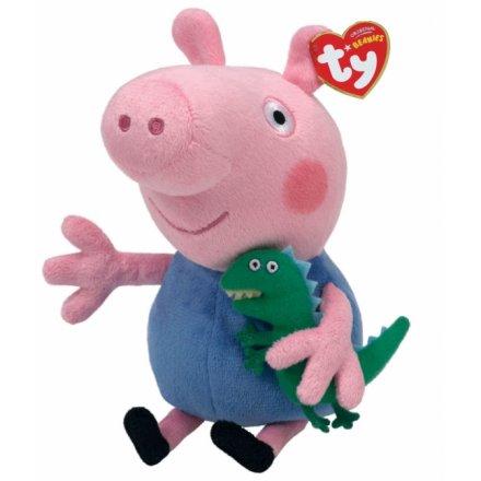 TY George Peppa Pig Beanie Boo 18cm