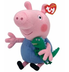 Adorable TY Beanie of George, a friendly and loveable character from Peppa Pig.