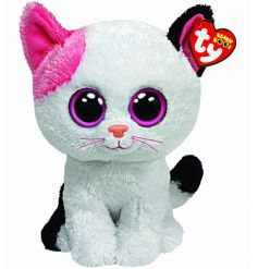 Cute white and pink cat from the hugely popular Beanie Boo range.