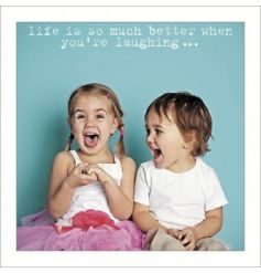 Humorous blank card from ICONs Life Is Sweet range of greeting cards