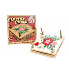 Those were the days... retro flower press kit with attractive gift box