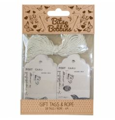 Decorative post card style gift tags from the Bits & Bobbins range