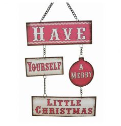 A festive addition to our popular range of hanging signs