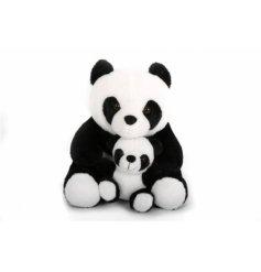 Sweet panda doorstop with cub