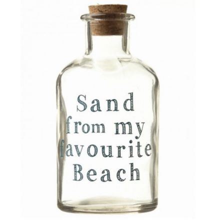 Glass Bottle Sand From Fave Beach