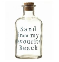 Collect the sand from your favourite beach with this keepsake glass storage bottle