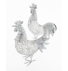 Decorative metal standing chicken ornaments for the home
