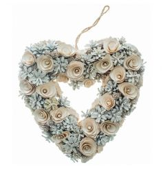 Heart shaped wreath with a woodland finish from Heaven Sends