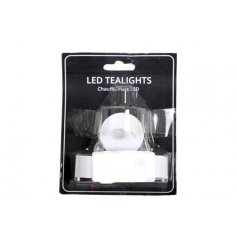 LED Tlights in a pack of 3 to give your home a warm evening glow