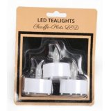 Pack of 3 Tlights with LED light, to warm those winter evenings