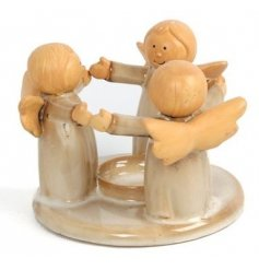 Cute Christmas Tlight holder and angel decoration