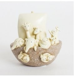 Noahs Ark ornament in a polyresin material, an adorable gift for a nursery