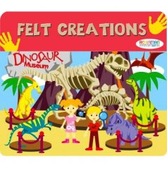 Create hours of fun with this felt dinosaur play set, a great stocking filler and pocket money toy