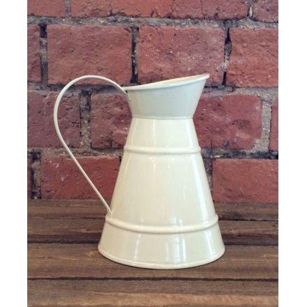 Zinc jug with cream finish, a handy in-trend piece
