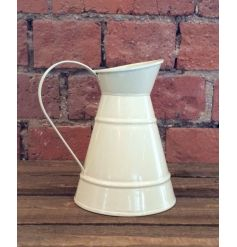 Cream jug made from zinc, a perfect planter or kitchen item
