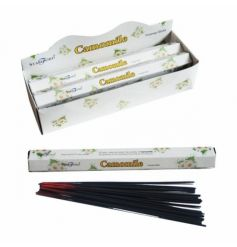 A set of incense sticks with a calming camomile fragrance.