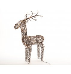 A superior quality light up reindeer for indoor and outdoor use.