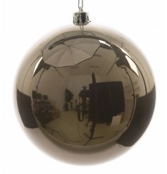 A large clay shatterproof bauble, a great product to balance out a big tree this year