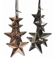 Decorative iron star clusters in trendy copper colours