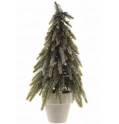 A stylish Christmas tree with a glitter finish and pot. A xmas essential perfect for many themes.