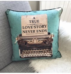 Vintage style cushion with antique style print by Heaven Sends