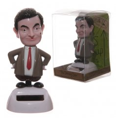 A novelty Mr Bean solar pal decoration.