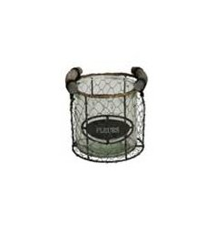 Rustic style chicken wire candle holder with glass insert