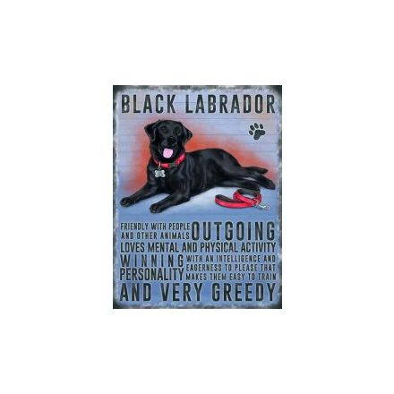 Black Labrador Hanging Metal Sign