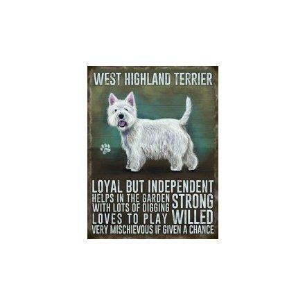 Metal Dog Sign - Westie