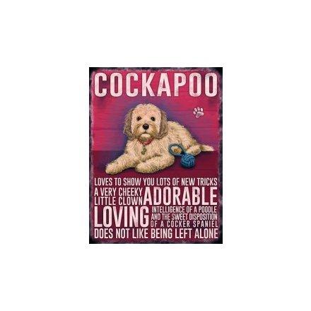 Metal Dog Sign - Cockapooo