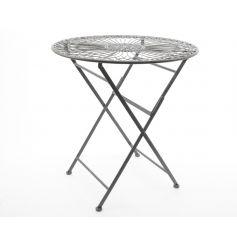 Grey coloured folding table, perfect for a summer garden party