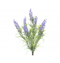 Lavender bunch of artificial flowers for decorative purposes