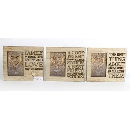 Wooden Text Frames, 3asst