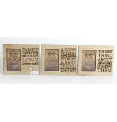 Shabby chic picture frames with carved wooding in an assortment of 3