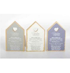 Shabby chic house plaques in a mix of 3 designs