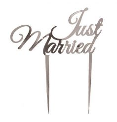 Silver 'Just Married' garden stake from Heaven Sends