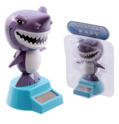 Fun shark solar powered toy with box