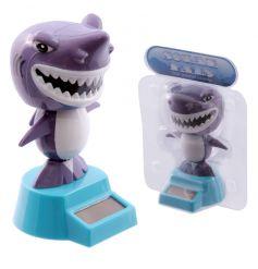Fun shark solar powered toy with box