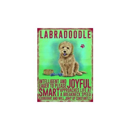 Mini Metal Sign - Labradoodle